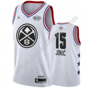 Denver Nuggets 2019 Nikola Jokic 15# Hvit All Star Game NBA Basketball Drakter Swingman..