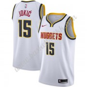 Denver Nuggets NBA Basketball Drakter 2019-20 Nikola Jokic 15# Hvit Association Edition Swingman Dra..