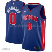 Barn Basketball Drakter Detroit Pistons 2018 Andre Drummond 0# Icon Edition Swingman..