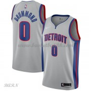 Barn Basketball Drakter Detroit Pistons 2018 Andre Drummond 0# Statement Edition Swingman..