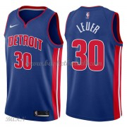 Barn Basketball Drakter Detroit Pistons 2018 Jon Leuer 30# Icon Edition Swingman..