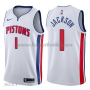 Barn Basketball Drakter Detroit Pistons 2018 Reggie Jackson 1# Association Edition Swingman..