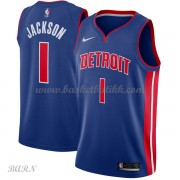 Barn Basketball Drakter Detroit Pistons 2018 Reggie Jackson 1# Icon Edition Swingman..