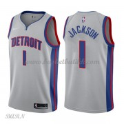 Barn Basketball Drakter Detroit Pistons 2018 Reggie Jackson 1# Statement Edition Swingman..
