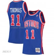 Barn Basketball Drakter Detroit Pistons Kids 1988-89 Isiah Thomas 11# Blue Hardwood Classics Swingma..