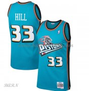 Barn Basketball Drakter Detroit Pistons Kids 1998-99 Grant Hill 33# Teal Hardwood Classics Swingman..
