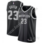 Barn Basketball Drakter Detroit Pistons 2019-20 Blake Griffin 23# Svart City Edition Swingman Drakt..
