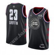 Detroit Pistons 2019 Blake Griffin 23# Svart All Star Game NBA Basketball Drakter Swingman..