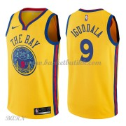 Barn Basketball Drakter Golden State Warriors 2018 Andre Iguodala 9# City Edition Swingman..