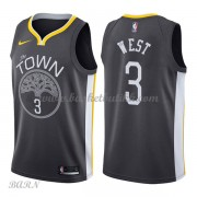 Barn Basketball Drakter Golden State Warriors 2018 David West 3# Statement Edition Swingman..