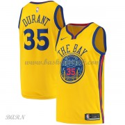 Barn Basketball Drakter Golden State Warriors 2018 Kevin Durant 35# City Edition Swingman