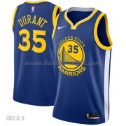 Barn Basketball Drakter Golden State Warriors 2018 Kevin Durant 35# Icon Edition Swingman..