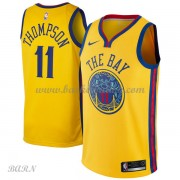 Barn Basketball Drakter Golden State Warriors 2018 Klay Thompson 11# City Edition Swingman..