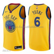 Barn Basketball Drakter Golden State Warriors 2018 Nick Young 6# City Edition Swingman..