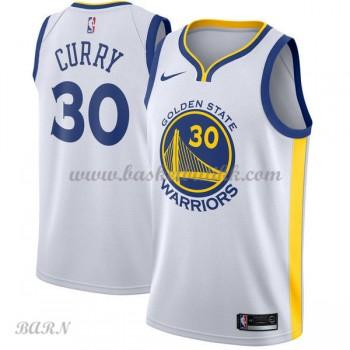 Barn Basketball Drakter Golden State Warriors 2018 Stephen Curry 30# Association Edition Swingman