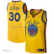 Barn Basketball Drakter Golden State Warriors 2018 Stephen Curry 30# City Edition Swingman..