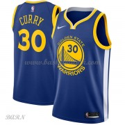 Barn Basketball Drakter Golden State Warriors 2018 Stephen Curry 30# Icon Edition Swingman..
