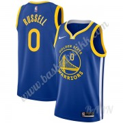Barn Basketball Drakter Golden State Warriors 2019-20 D'Angelo Russell 0# Blå Icon Edition Swingman ..