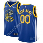 Barn Basketball Drakter Golden State Warriors 2019-20 Blå Icon Edition Swingman Drakt..