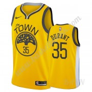 Barn Basketball Drakter Golden State Warriors 2019-20 Kevin Durant 35# Gull Earned Edition Swingman ..