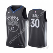 Barn Basketball Drakter Golden State Warriors 2019-20 Stephen Curry 30# Svart City Edition Swingman ..