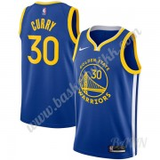 Barn Basketball Drakter Golden State Warriors 2019-20 Stephen Curry 30# Blå Icon Edition Swingman Dr..