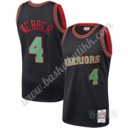 Barn Basketball Drakter Golden State Warriors 1993-94 Chris Webber 4# Svart Hardwood Classics Swingm..