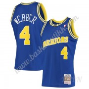 Barn Basketball Drakter Golden State Warriors 1993-94 Chris Webber 4# Blå Hardwood Classics Swingman..