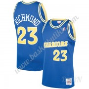Barn Basketball Drakter Golden State Warriors 1990-91 Mitch Richmond 23# Blå Hardwood Classics Swing..