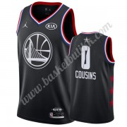 Golden State Warriors 2019 Demarcus Cousins 0# Svart All Star Game NBA Basketball Drakter Swingman..