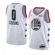 Golden State Warriors 2019 Demarcus Cousins 0# Hvit All Star Game NBA Basketball Drakter Swingman..