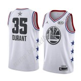 Golden State Warriors 2019 Kevin Durant 35# Hvit All Star Game NBA Basketball Drakter Swingman