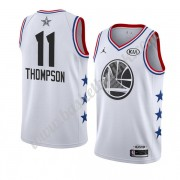 Golden State Warriors 2019 Klay Thompson 11# Hvit All Star Game NBA Basketball Drakter Swingman..
