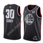 Golden State Warriors 2019 Stephen Curry 30# Svart All Star Game NBA Basketball Drakter Swingman..