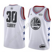 Golden State Warriors 2019 Stephen Curry 30# Hvit All Star Game NBA Basketball Drakter Swingman..