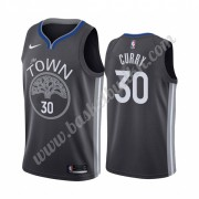 Golden State Warriors NBA Basketball Drakter 2019-20 Stephen Curry 30# Svart City Edition Swingman D..