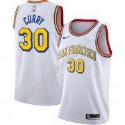 Golden State Warriors NBA Basketball Drakter Stephen Curry 30# Hvit Finished Hardwood Classics Swing..