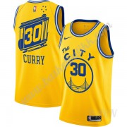 Barn Basketball Drakter Golden State Warriors 2019-20 Stephen Curry 30# Gul Finished Hardwood Classi..