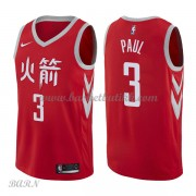 Barn Basketball Drakter Houston Rockets 2018 Chris Paul 3# City Edition Swingman..
