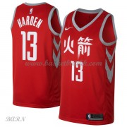 Barn Basketball Drakter Houston Rockets 2018 James Harden 13# City Edition Swingman..