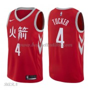 Barn Basketball Drakter Houston Rockets 2018 P.J. Tucker 2# City Edition Swingman..