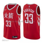 Barn Basketball Drakter Houston Rockets 2018 Ryan Anderson 33# City Edition Swingman..