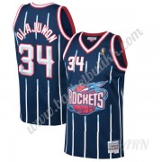 Barn Basketball Drakter Houston Rockets 1996-97 Hakeem Olajuwon 34# Marinen Hardwood Classics Swingm..