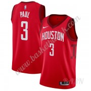 Barn Basketball Drakter Houston Rockets 2019-20 Chris Paul 3# Rød Earned Edition Swingman Drakt..