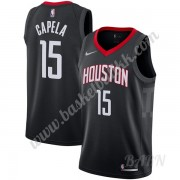Barn Basketball Drakter Houston Rockets 2019-20 Clint Capela 15# Svart Statement Edition Swingman Dr..