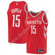 Barn Basketball Drakter Houston Rockets 2019-20 Clint Capela 15# Rød Icon Edition Swingman Drakt..
