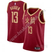 Barn Basketball Drakter Houston Rockets 2019-20 James Harden 13# Rød City Edition Swingman Drakt..