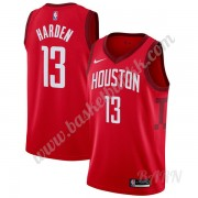 Barn Basketball Drakter Houston Rockets 2019-20 James Harden 13# Rød Earned Edition Swingman Drakt..