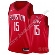 Barn Basketball Drakter Houston Rockets 2019-20 Clint Capela 15# Rød Earned Edition Swingman Drakt..