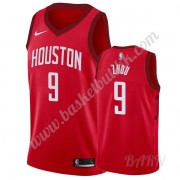 Barn Basketball Drakter Houston Rockets 2019-20 Zhou Qi 9# Rød Earned Edition Swingman Drakt..